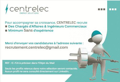 Centrelec Maroc recrute