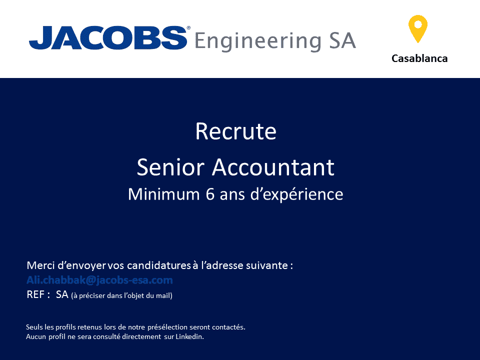 jacobs engineering recrute 3 profils  casablanca  -  u062a u0648 u0638 u064a u0641  3   u0645 u0646 u0635 u0628