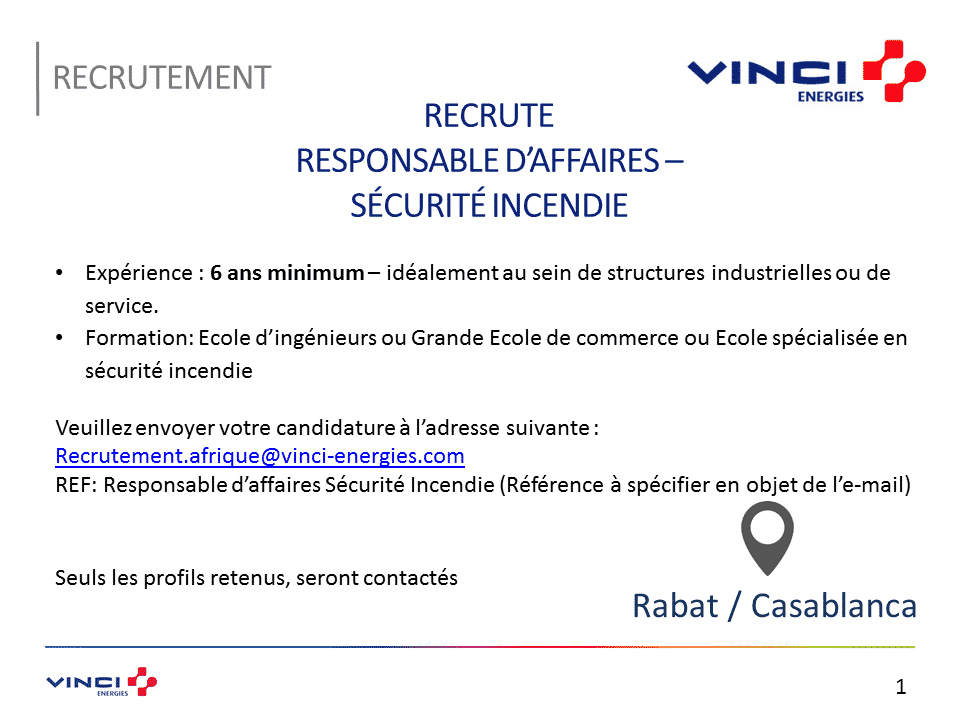 Vinci Maroc recrute