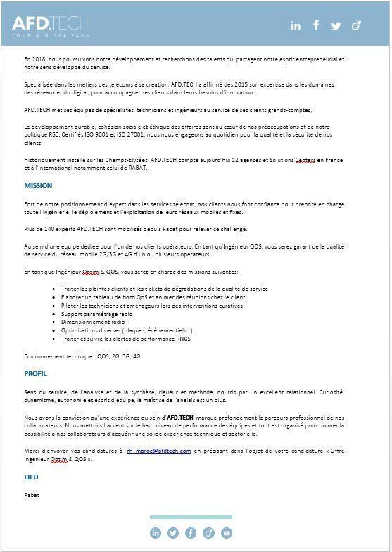 AFD Tech recrute - Dreamjob.ma