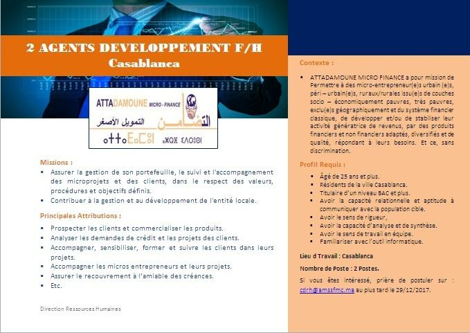 2 Agents Développement Casablanca