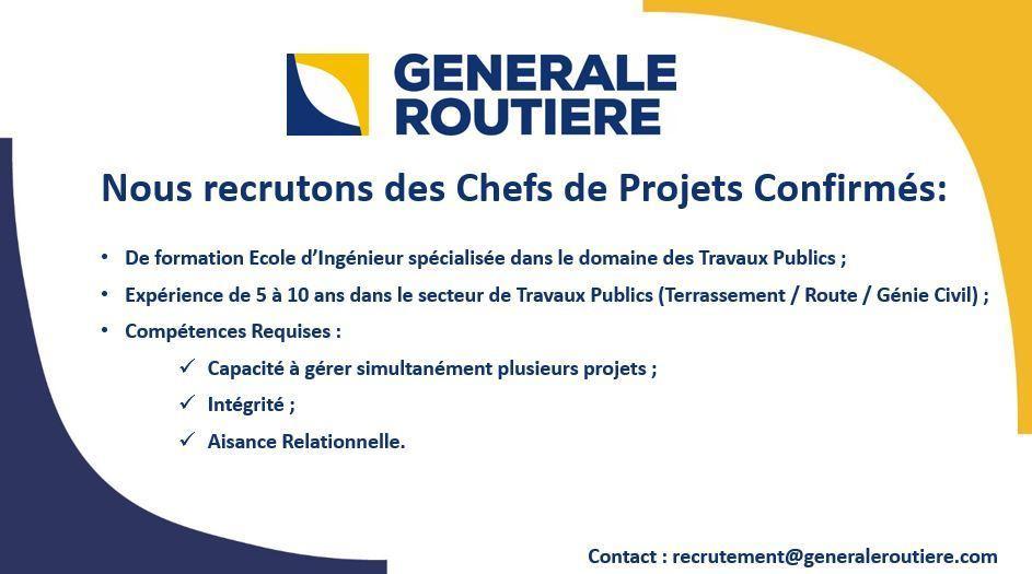 Generale Routiere recrutement - Dreamjob.ma