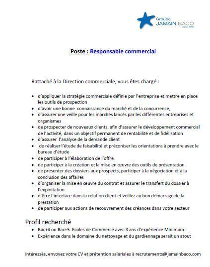 Jamain Baco Commerciaux - Dreamjob.ma