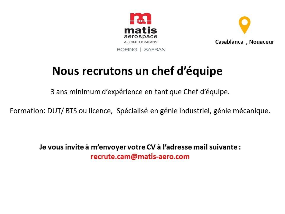 Matis Aerospace Emploi et Recrutement - Dreamjob.ma