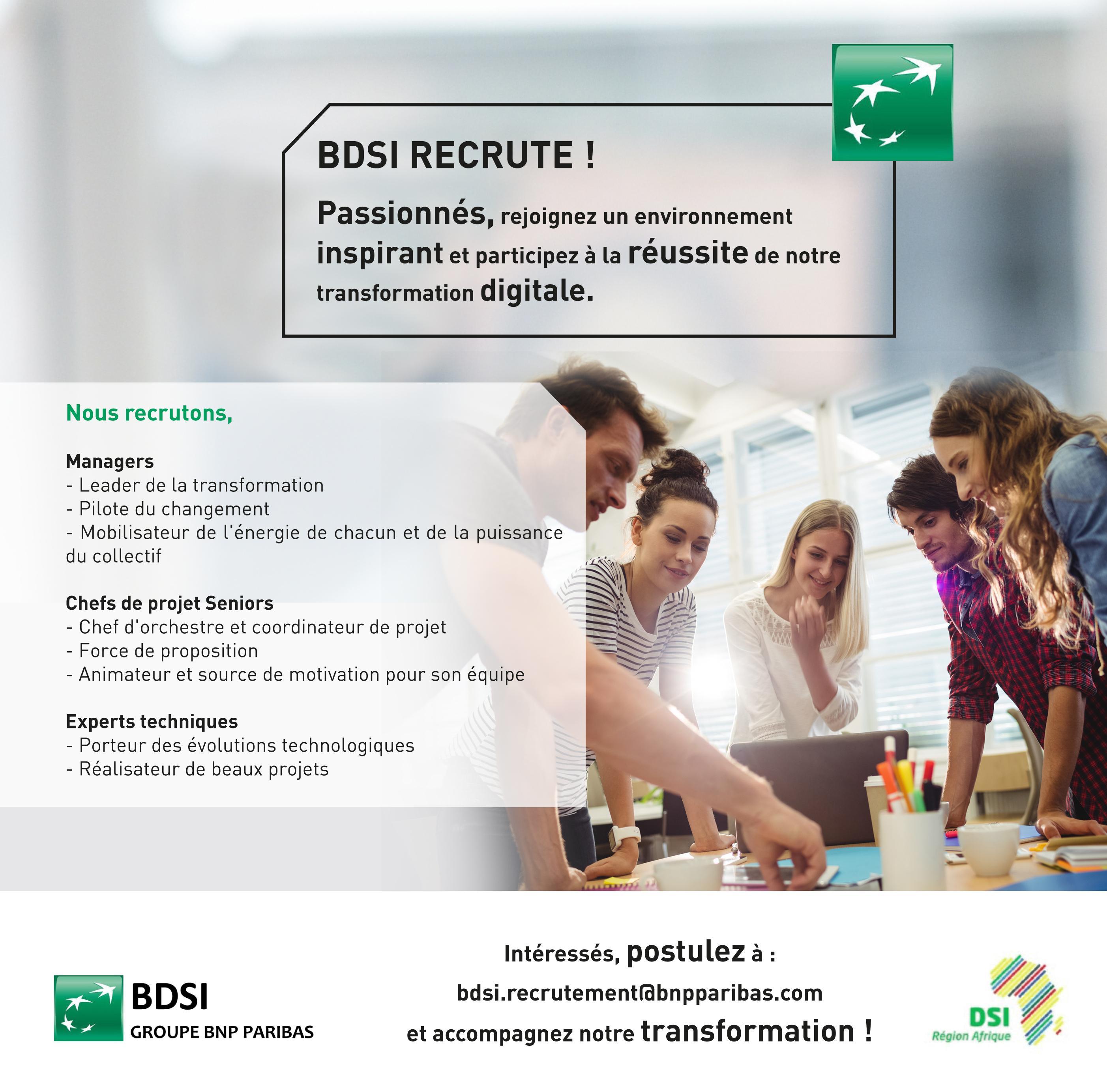 BDSI Recrutement - Dreamjob.ma
