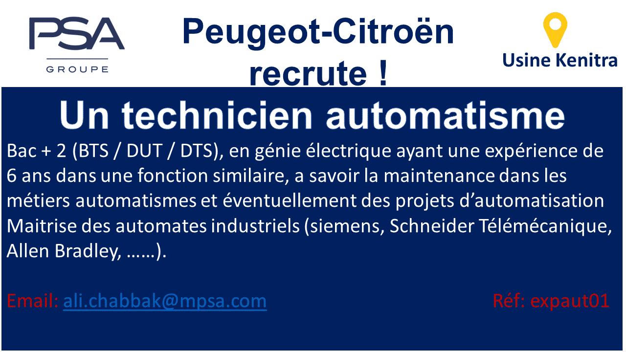 Technicien Automatisme PSA