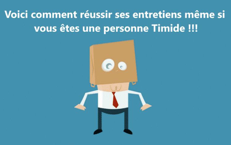 Timide - Dreamjob.ma
