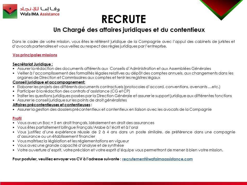 Cabinet juridique casablanca - Cabinet de recrutement juridique ...
