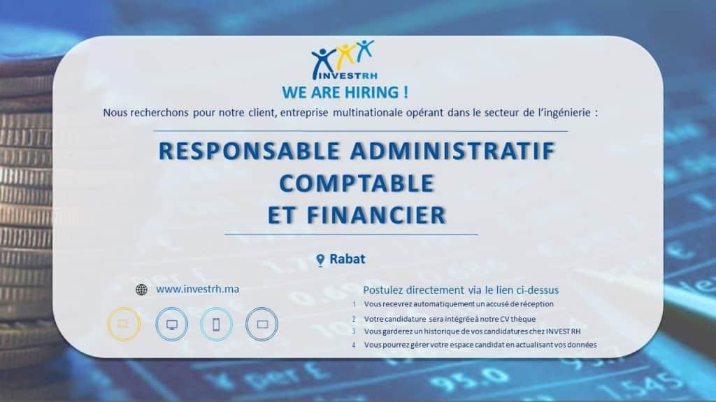 Responsable Adminstratif et Financier Rabat
