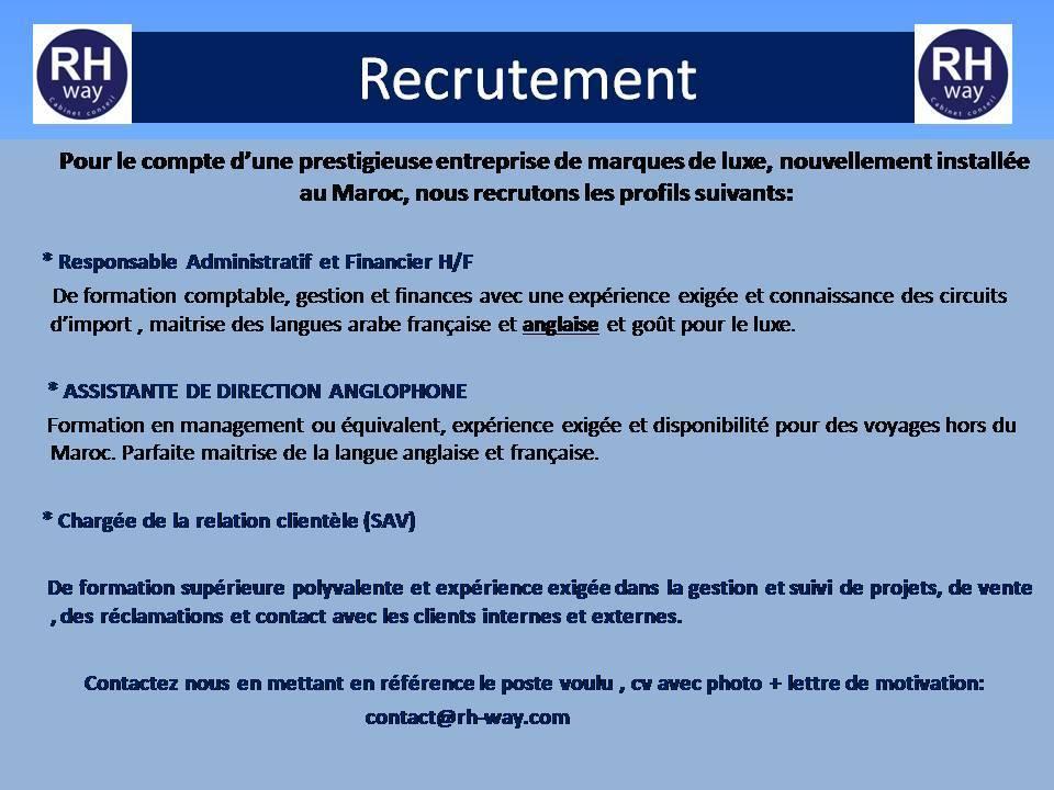 42 Offres d'Emploi en Cours au Maroc - N°107