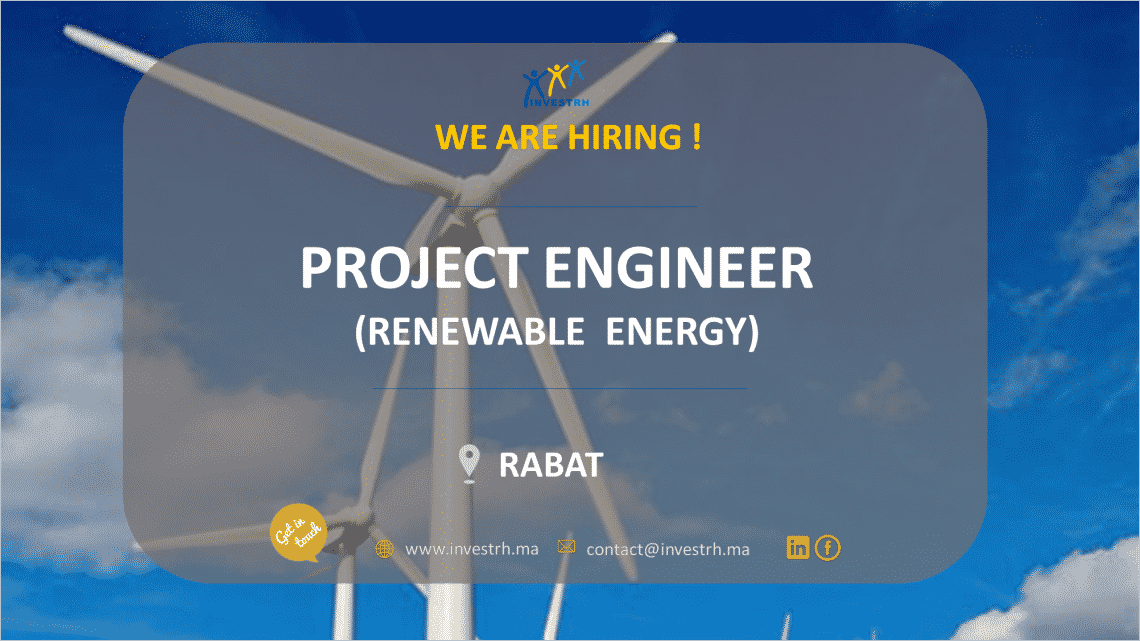 Invest RH recrute un Project Engineer (Renewable Energy)