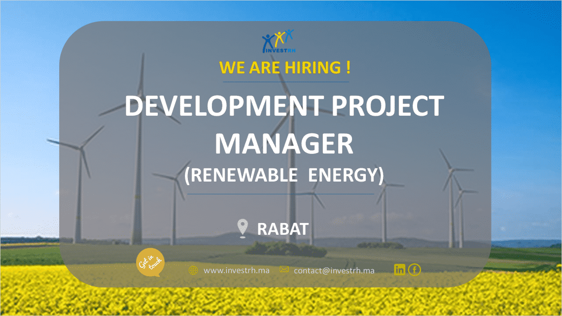 Invest RH recrute un Project Manager (Renewable Energy)