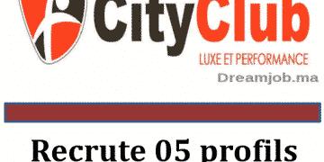 City Club recrute 5 Profils Dreamjob.ma