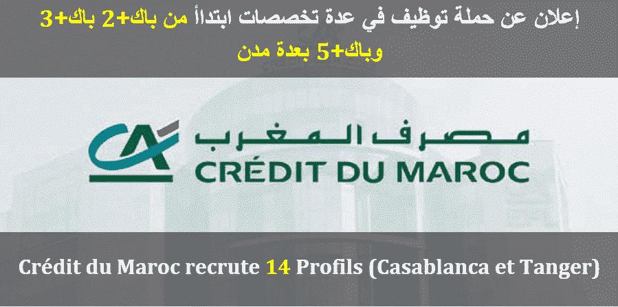 Credit Du Maroc Recrute 14 Profils Casablanca Et Tanger Dreamjob Ma