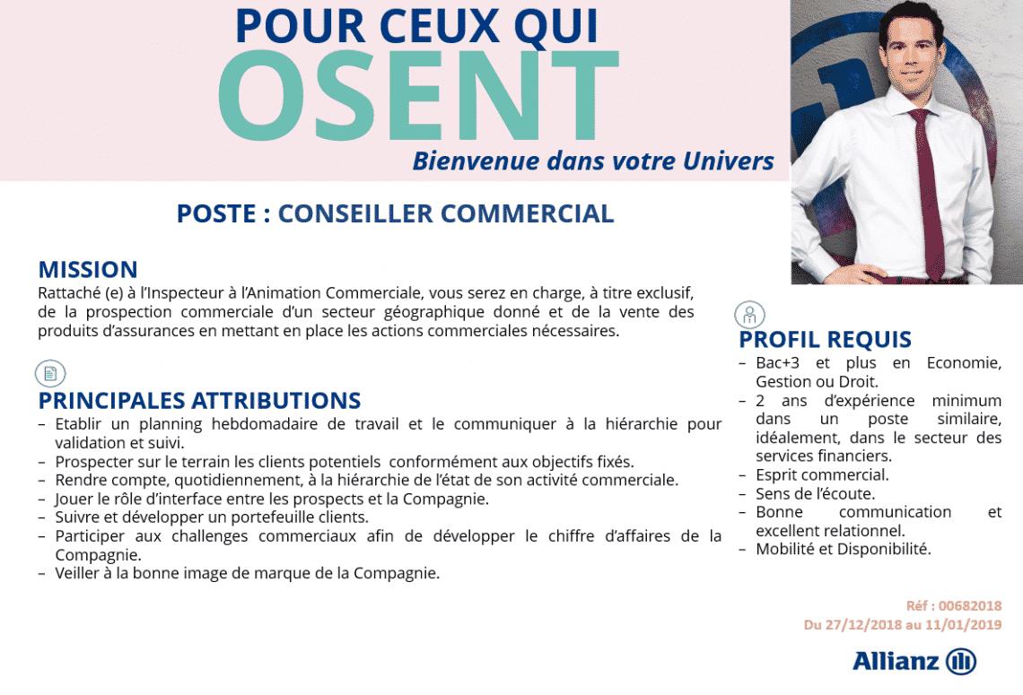 Allianz Assurances recrute 4 Profils (Casablanca)