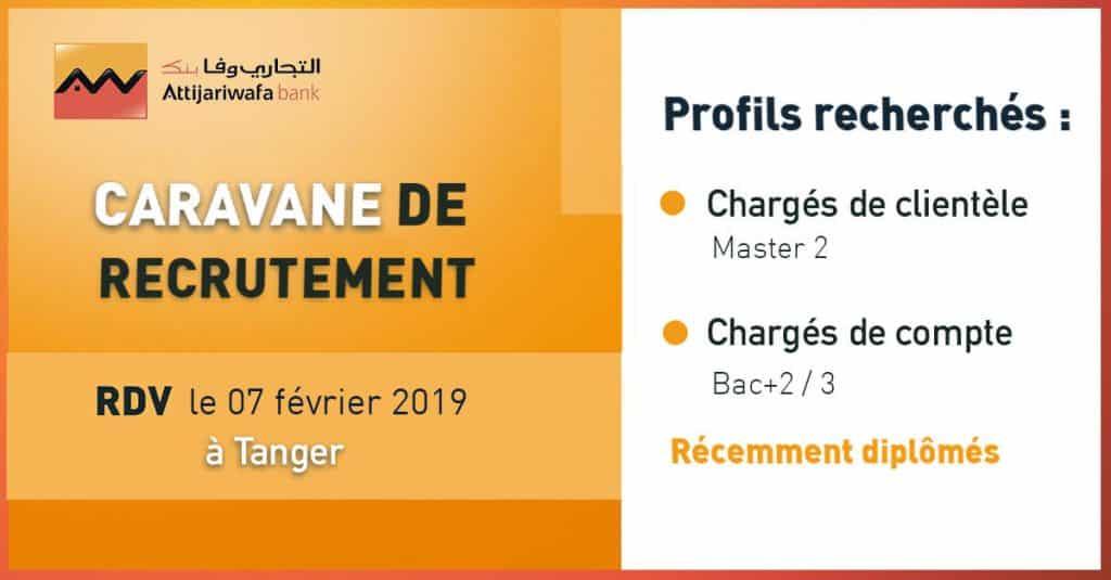 Attijariwafa Bank lance sa Caravane de Recrutement 2019