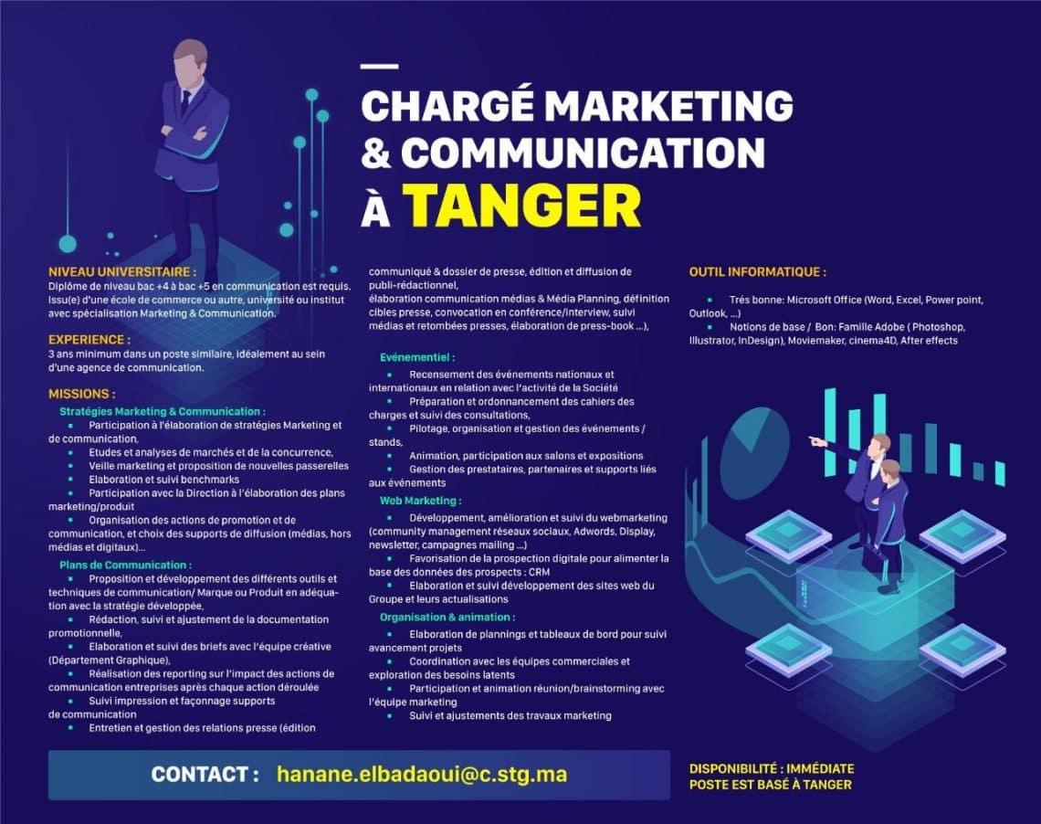 STG Telecom recrute un Responsable Financier et un Chargé Marketing et Communication