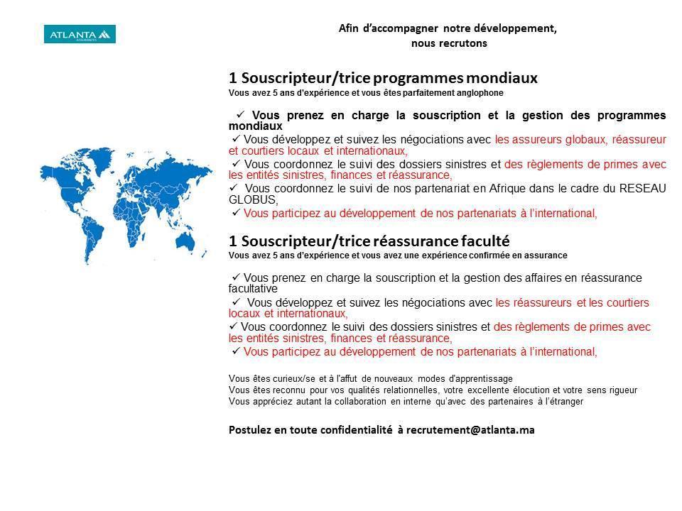 60 Postes à Pourvoir dans plusieurs Domaines - N°165