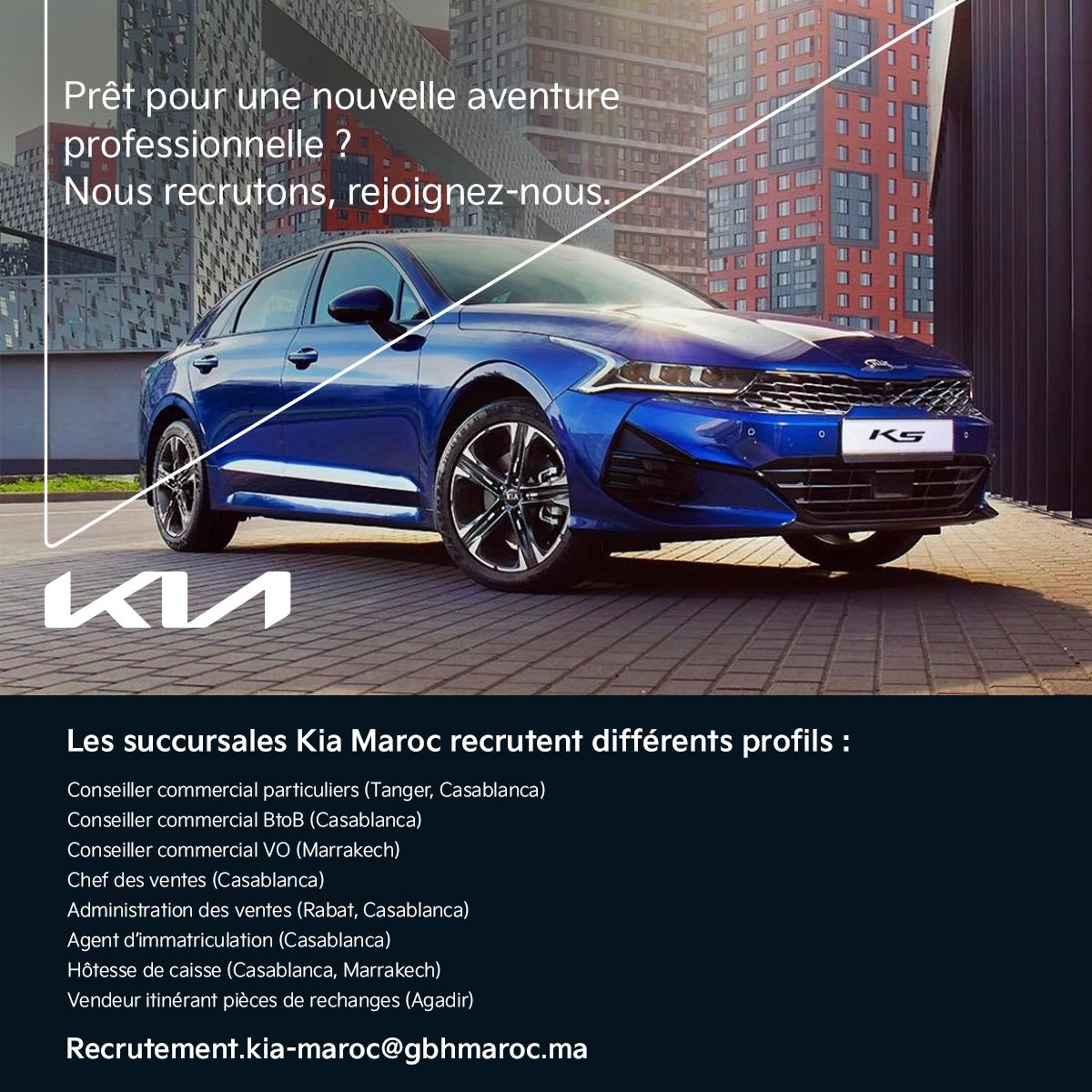 Kia Maroc Campagne Recrutement