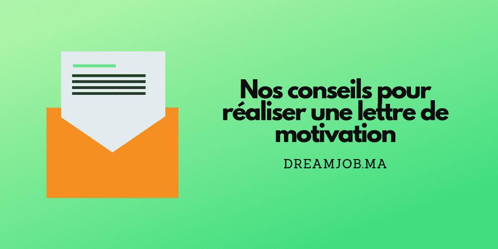 Conseils lettre de motivation - Dreamjob.ma