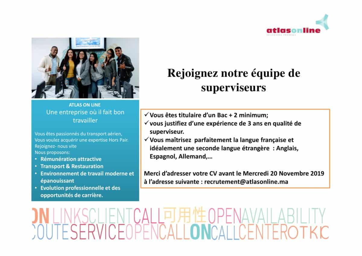 annoncesupexternev24 1 Atlas On Line recrute des Superviseurs