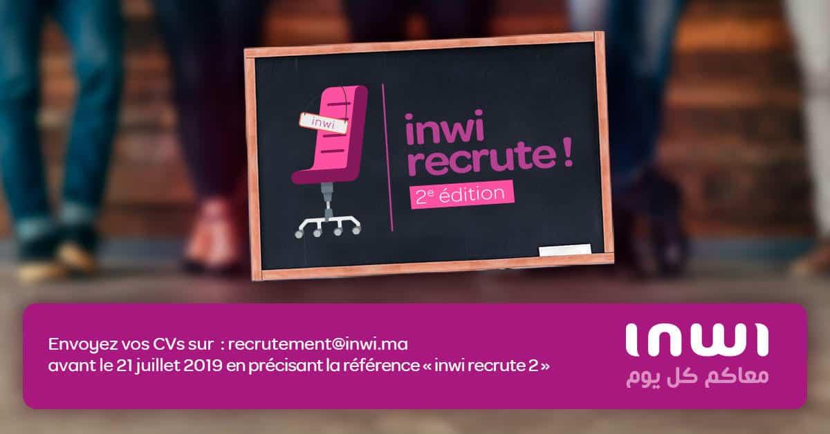 inwi recrute plusieurs profils