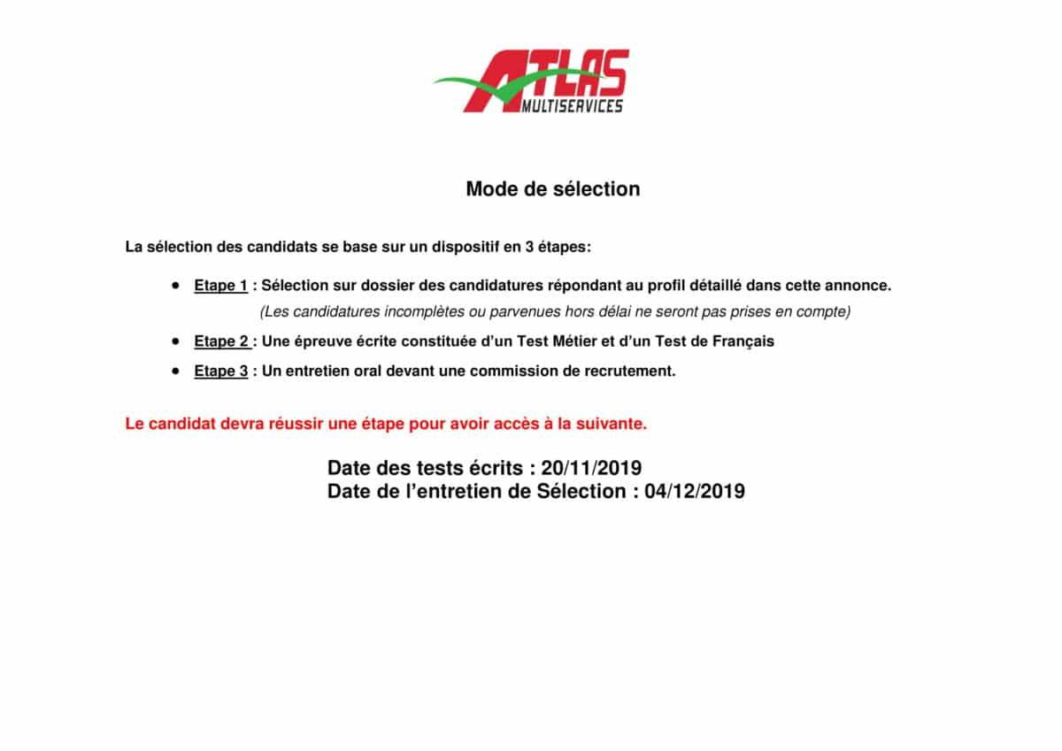 AnnonceAgentadministratifOctobre2019 2 Atlas Multiservices recrute des Agents Administratifs