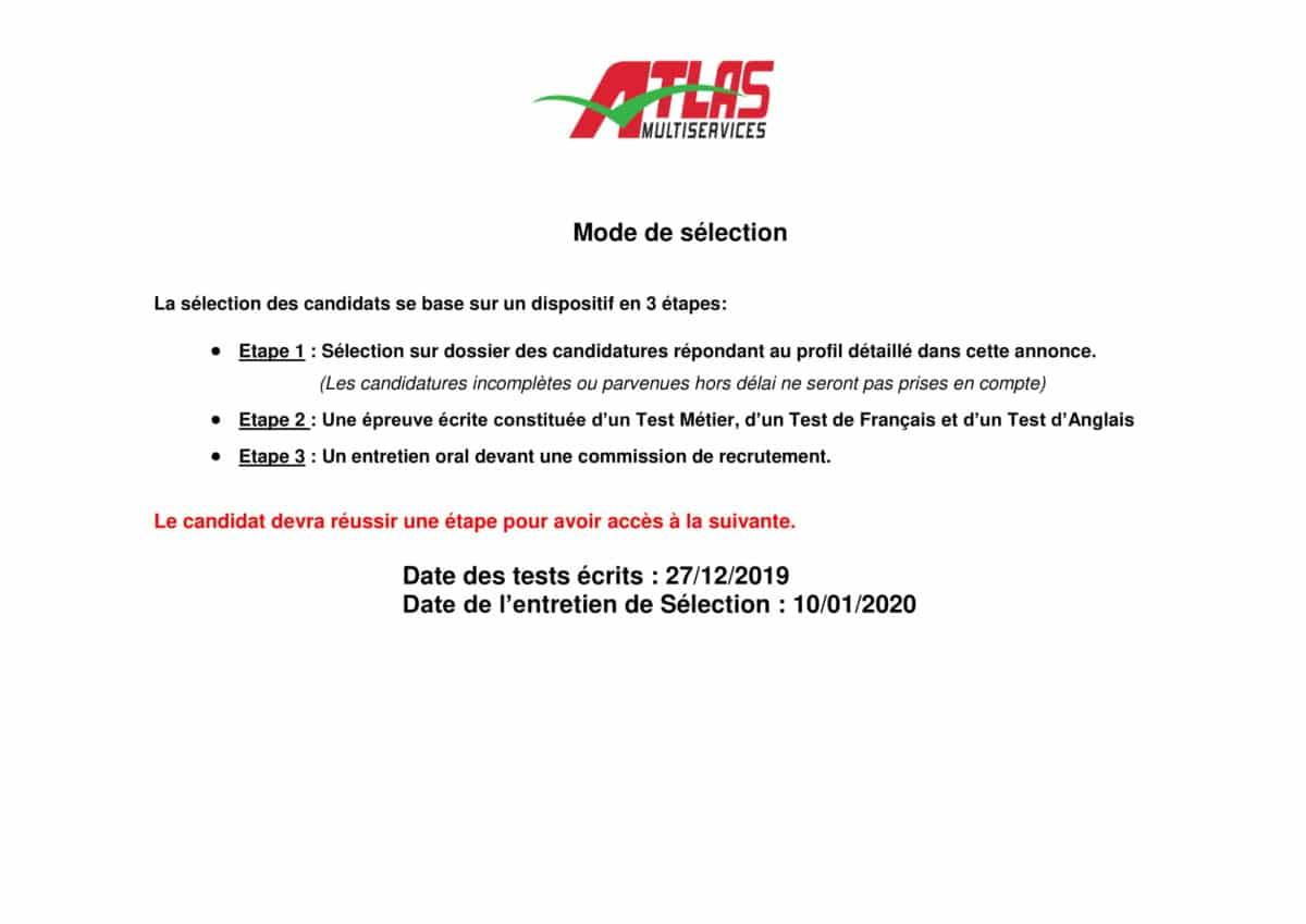 AnnonceAssistantededirectionNovembre2019 2 Atlas Multiservices recrute une Assistante de Direction
