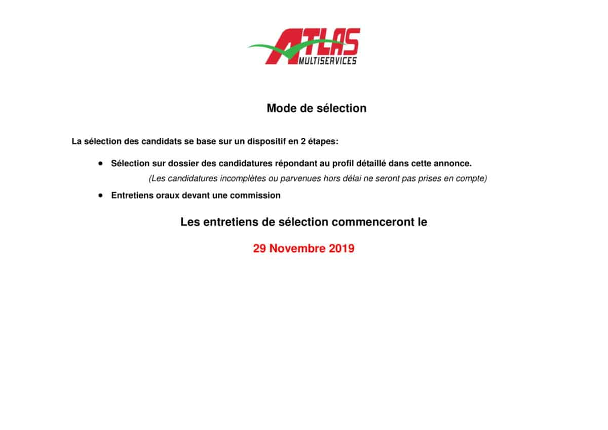 AnnonceChauffeurNovembre2019 2 Atlas Multiservices recrute un Chauffeur