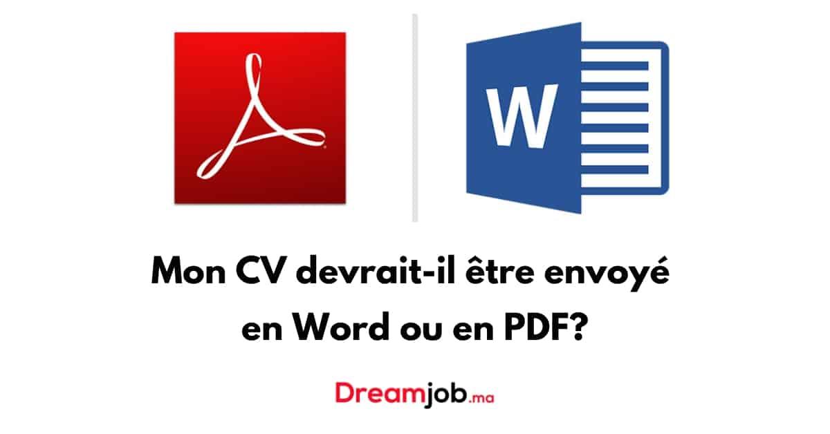 CV Word ou PDF