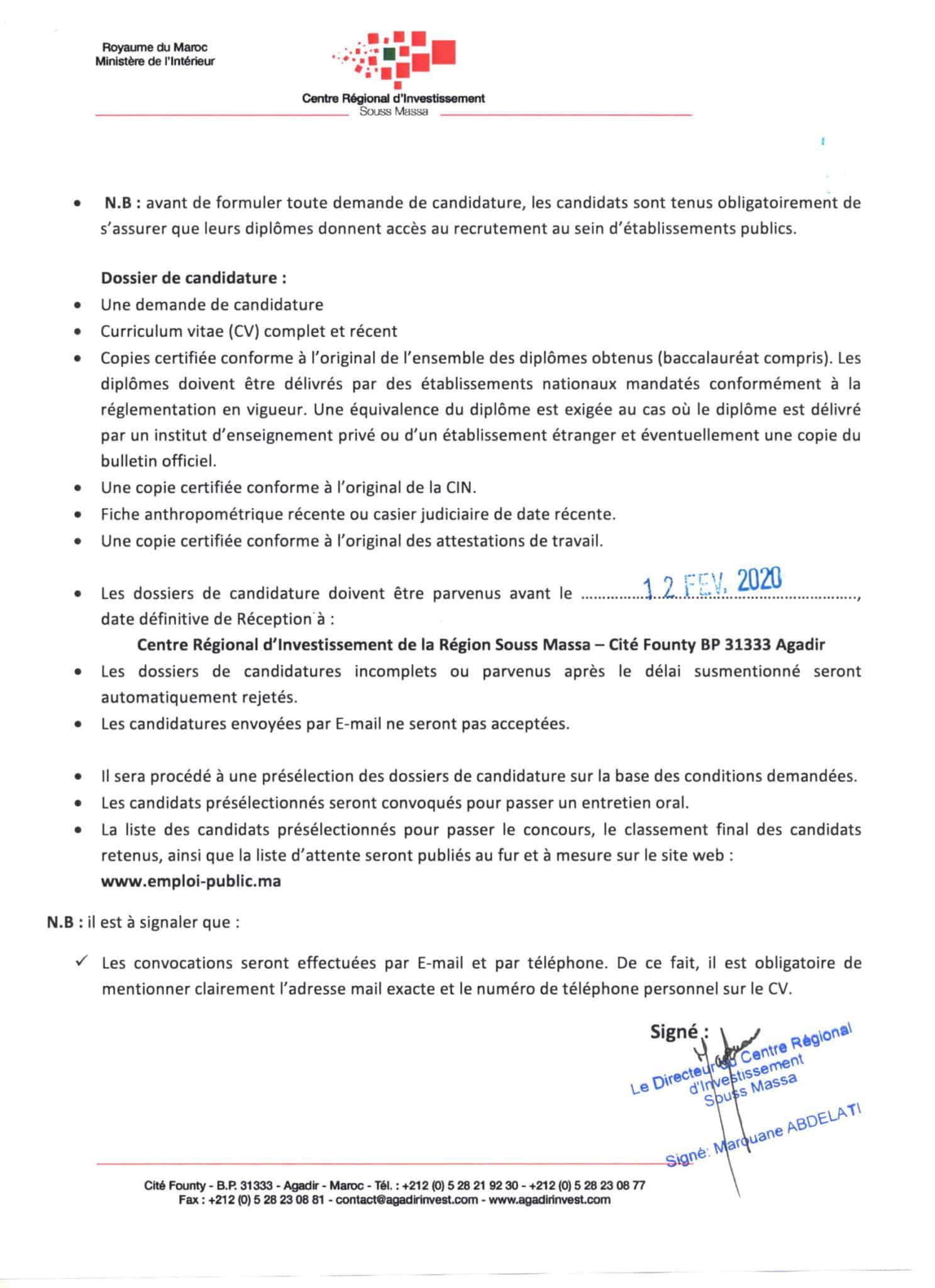 Assistantededirection14 2 scaled Centre Régional d'Investissement Souss Massa recrute Assistante de Direction Générale