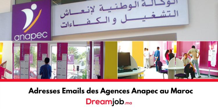 Adresses Emails des Agences Anapec au Maroc - Dreamjob.ma