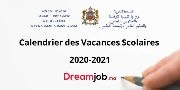Calendrier des Vacances Scolaires au Maroc 2020 2021   DREAMJOB.MA