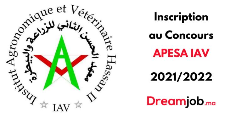 Inscription Concours APESA IAV