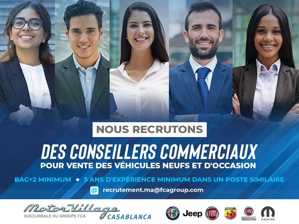 Motor Village Casablanca Recrutement Conseillers Commerciaux
