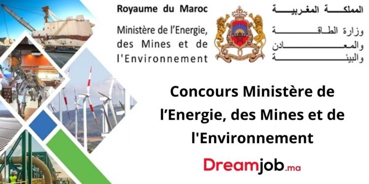 de l'Energie, des Mines et de l'Environnement Concours Emploi Recrutement