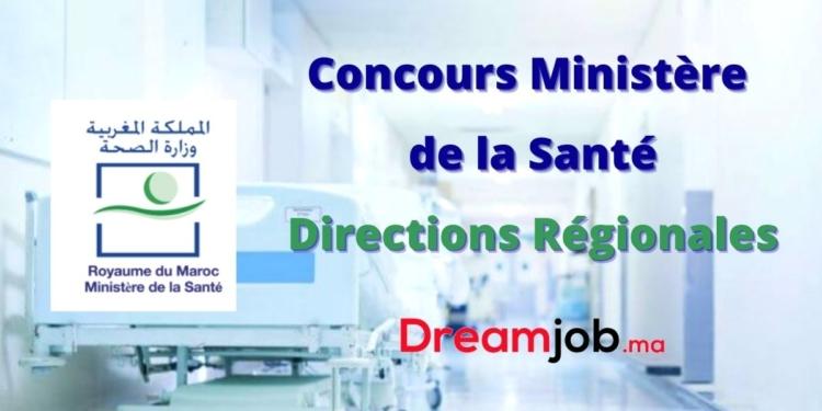 Ministère de la Santé Direction Régionale Concours Emploi Recrutement