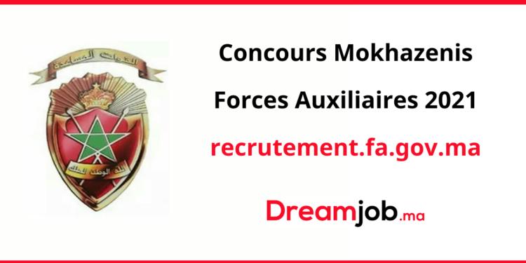 Concours Mokhazenis Forces Auxiliaires