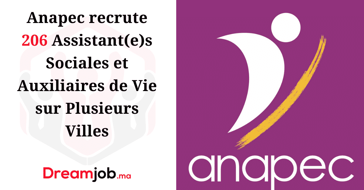 Anapec Recrutement Assistant(e)s Sociales Auxiliaires de Vie