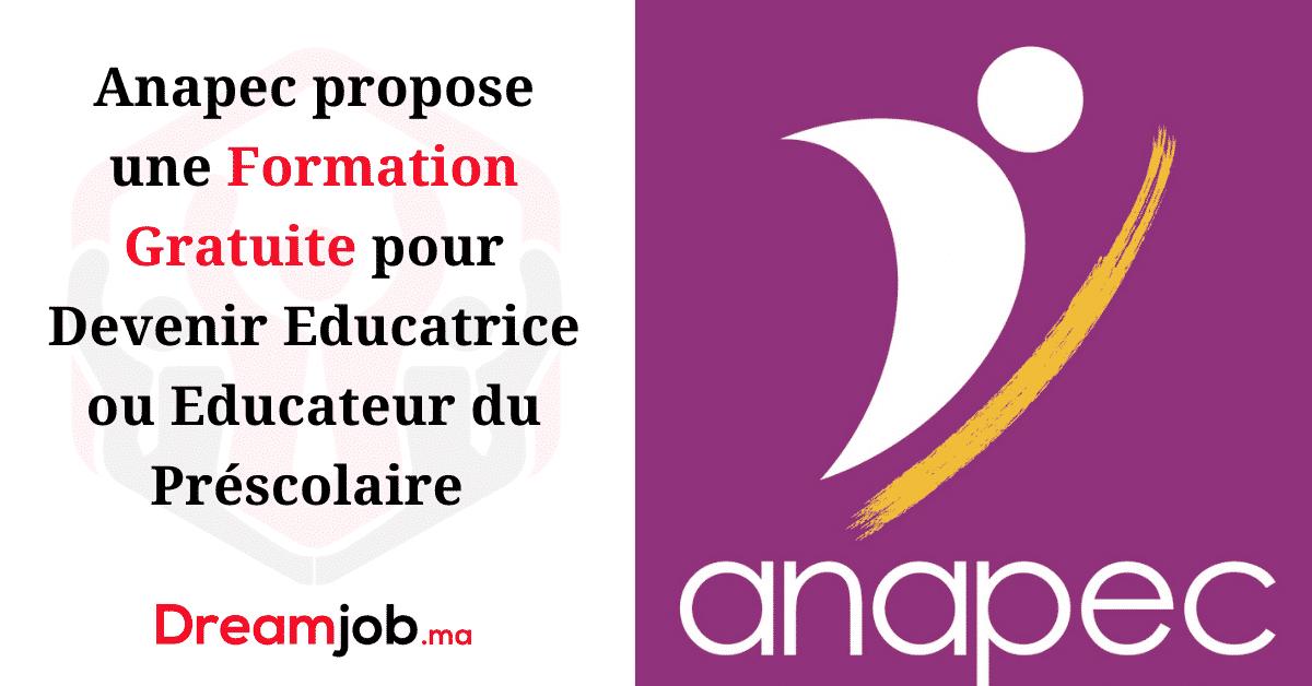 Anapec propose une Formation Gratuite pour Devenir Educatrice / Educateur du Préscolaire