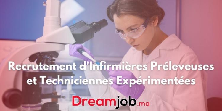 Recrutement d'Infirmières Préleveuses et Techniciennes Expérimentées