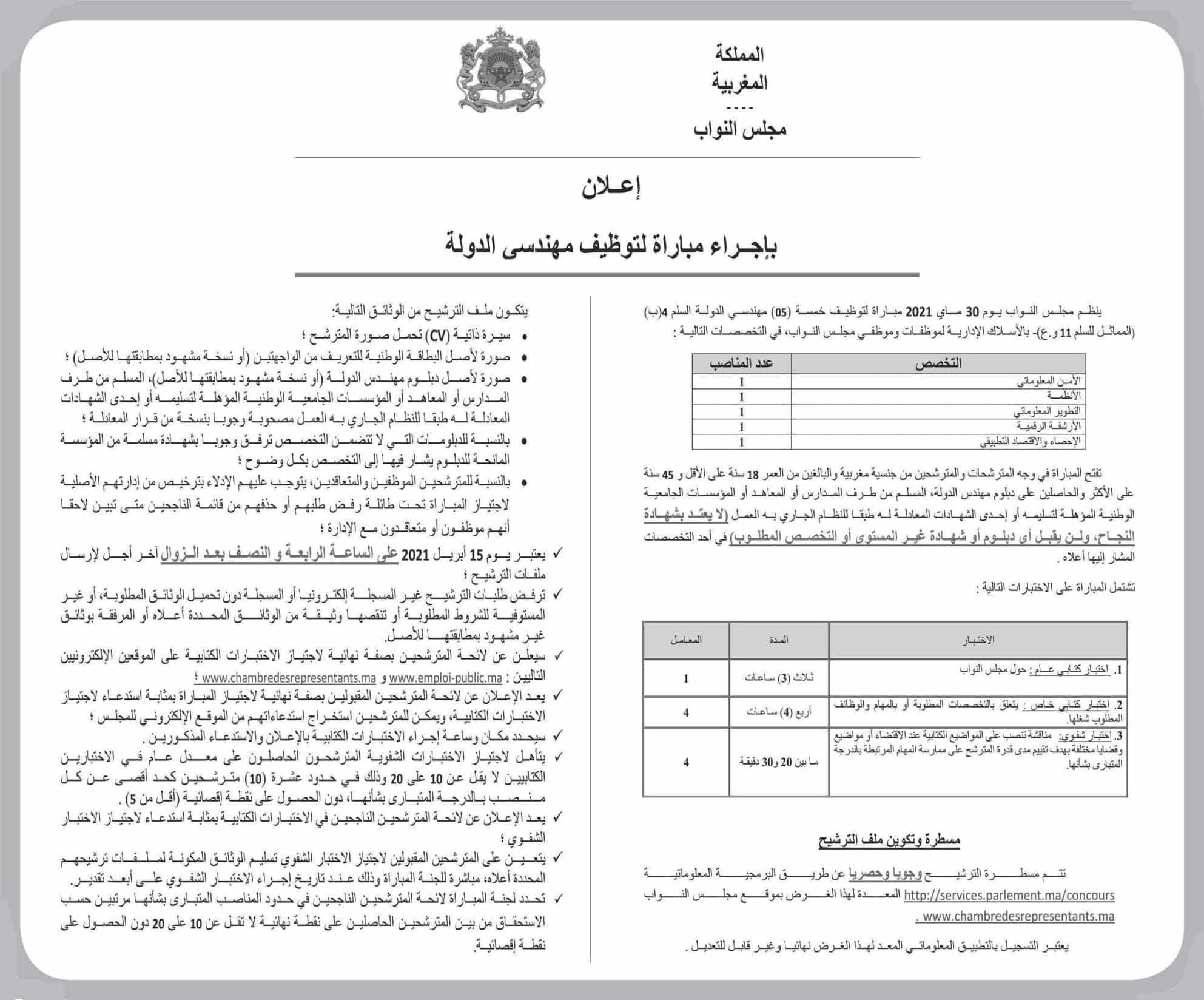 avis de concours pdf chambre representants 2021 2 Résultats Concours Chambre des Représentants 2021 (52 Postes)