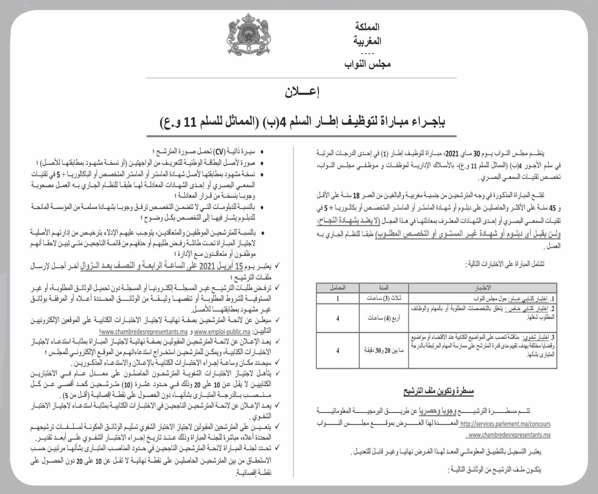 avis de concours pdf chambre representants 2021 3 Résultats Concours Chambre des Représentants 2021 (52 Postes)