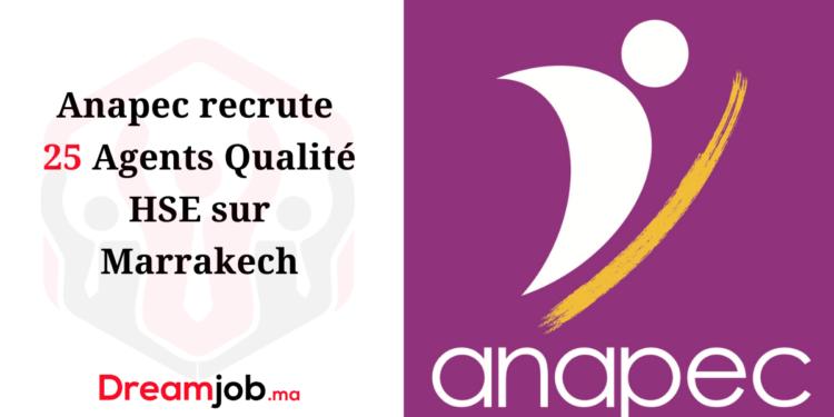 Anapec Recrutement Agents Qualité HSE