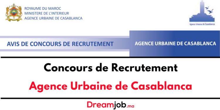 Agence Urbaine de Casablanca Concours Emploi Recrutement