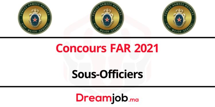 Concours far 2021 Sous-officiers