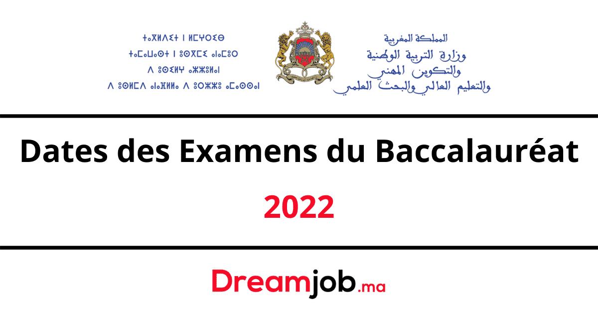 Dates des Examens du Baccalauréat