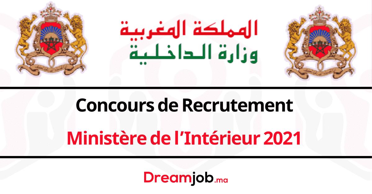 Ministère de l'Intérieur Concours Emploi Recrutement