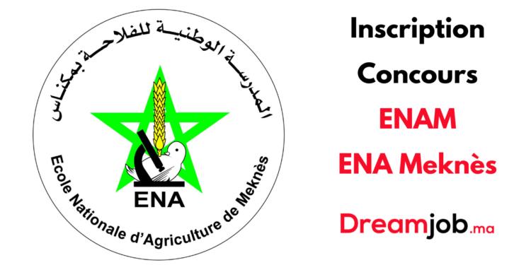 Inscription Concours ENAM ENA Meknès