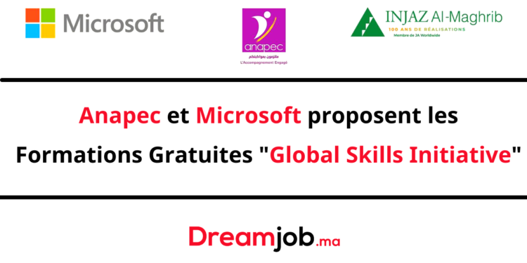 Anapec Microsoft Formation Gratuite Global Skills Initiative
